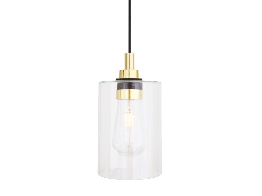 Direct light handmade glass pendant lamp CALDER by Mullan Lighting
