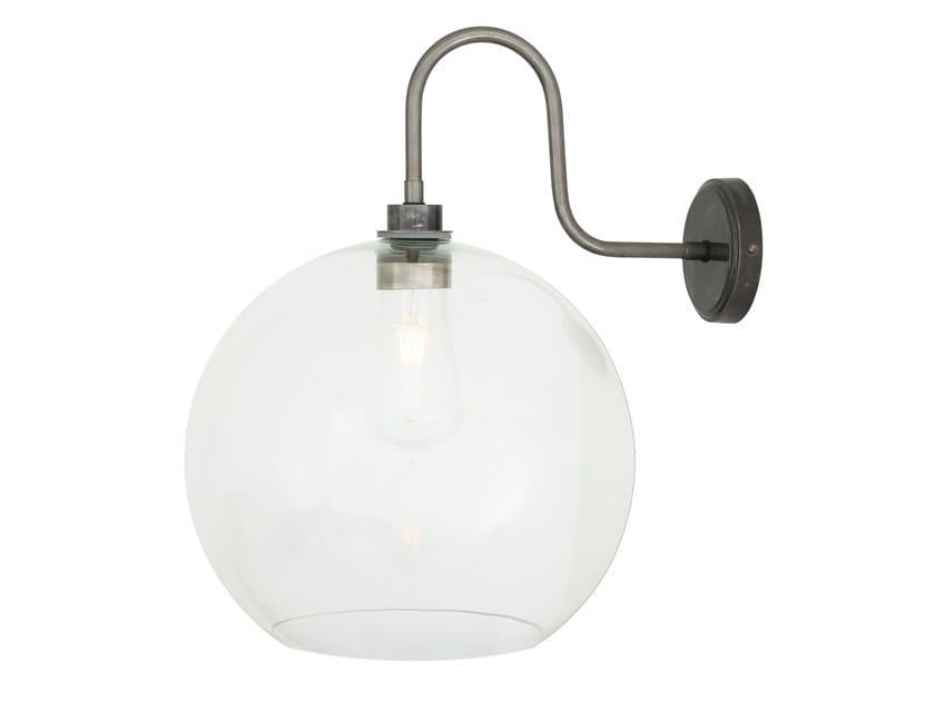 Direct light handmade wall lamp for bathroom LEITH Swan Neck by Mullan Lighting