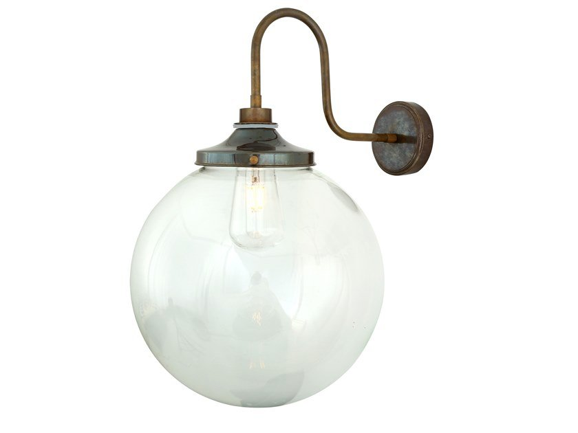 Direct light handmade wall lamp for bathroom LAGUNA Swan Neck by Mullan Lighting