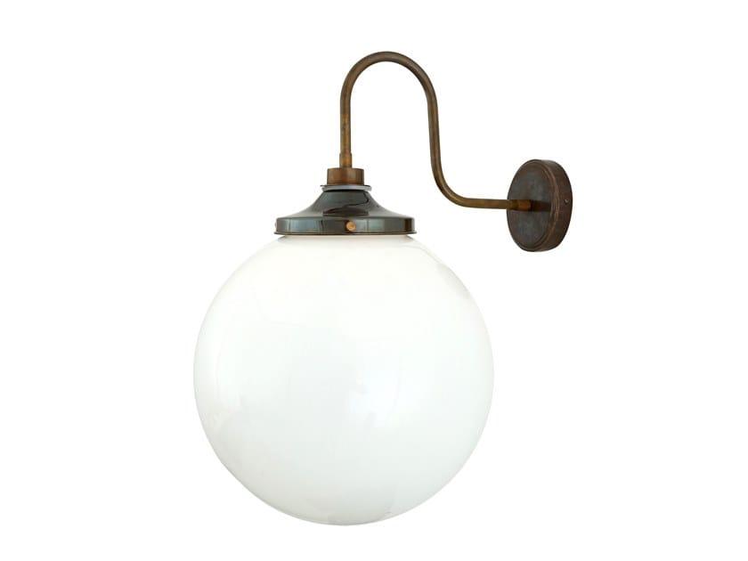 Handmade brass wall lamp for bathroom PELAGIA Swan Neck by Mullan Lighting