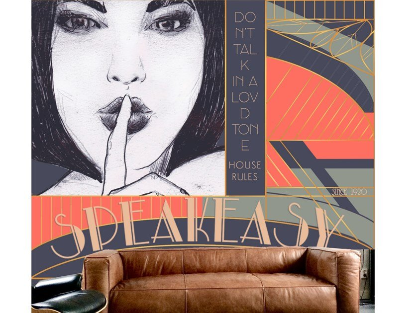 Wall tiles / wallpaper SPEAKEASY by Officinarkitettura®