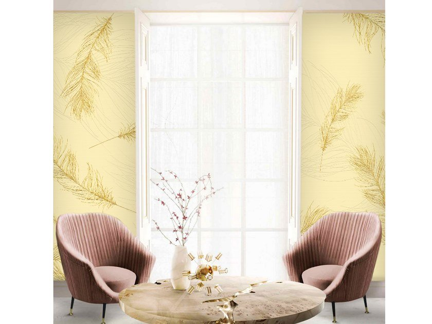 Wall tiles / wallpaper FEATHERS GOLD by Officinarkitettura®