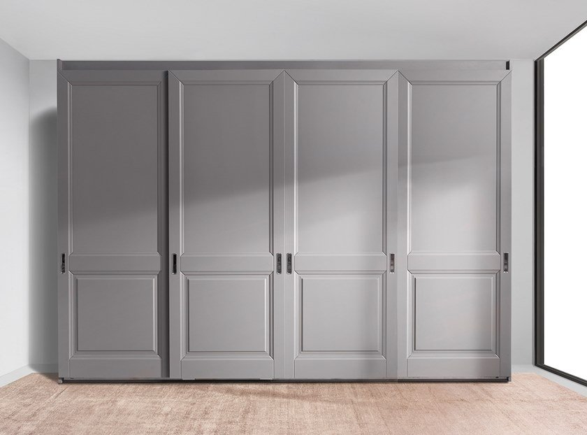 Wardrobe with sliding doors PARIS | Wardrobe by Ornare