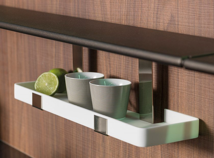 Fitted Kitchen backsplash TOOLS by Ornare