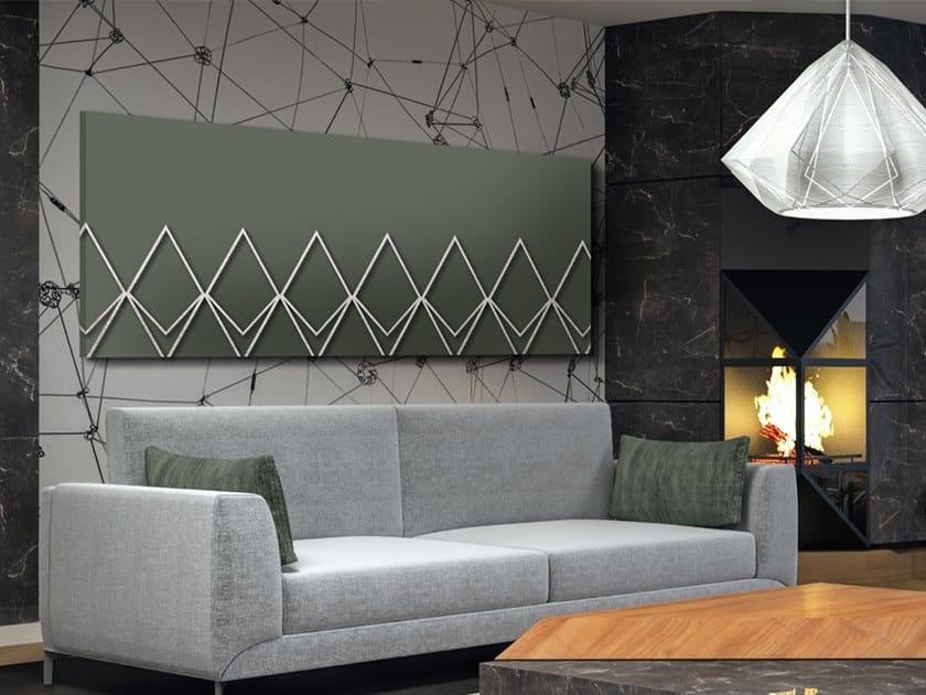 Horizontal wall-mounted aluminium panel radiator DP 00519ArgB by Termoarredo Design