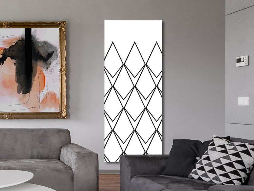 Vertical wall-mounted aluminium panel radiator DP 00519A by Termoarredo Design