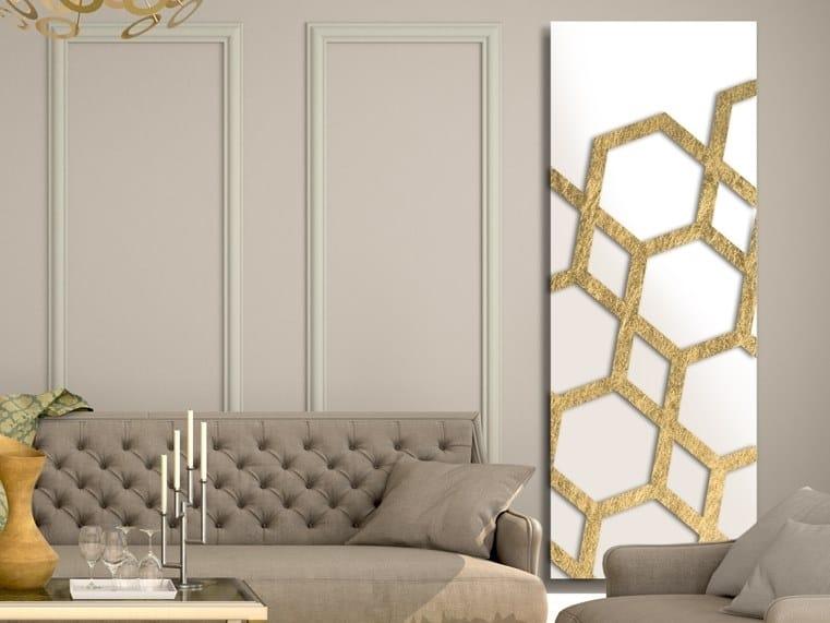 Vertical wall-mounted aluminium panel radiator FOGLIA D'ORO - DP 00516 by Termoarredo Design