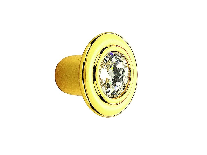 Zamak Furniture knob with crystals 10 778 | Furniture knob by Citterio Giulio