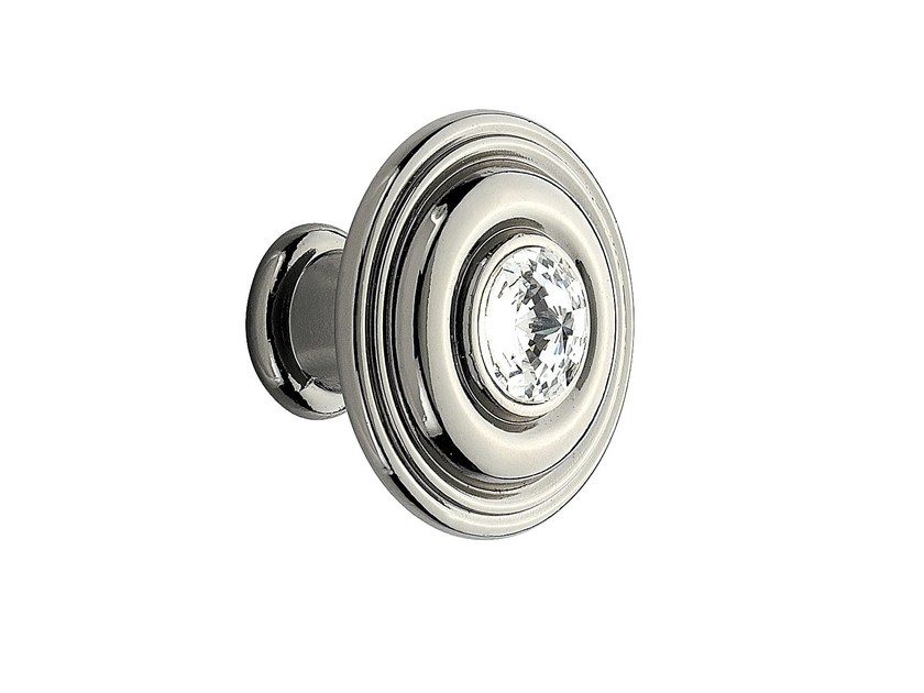 Zamak Furniture knob with crystals 10 790 | Furniture knob by Citterio Giulio