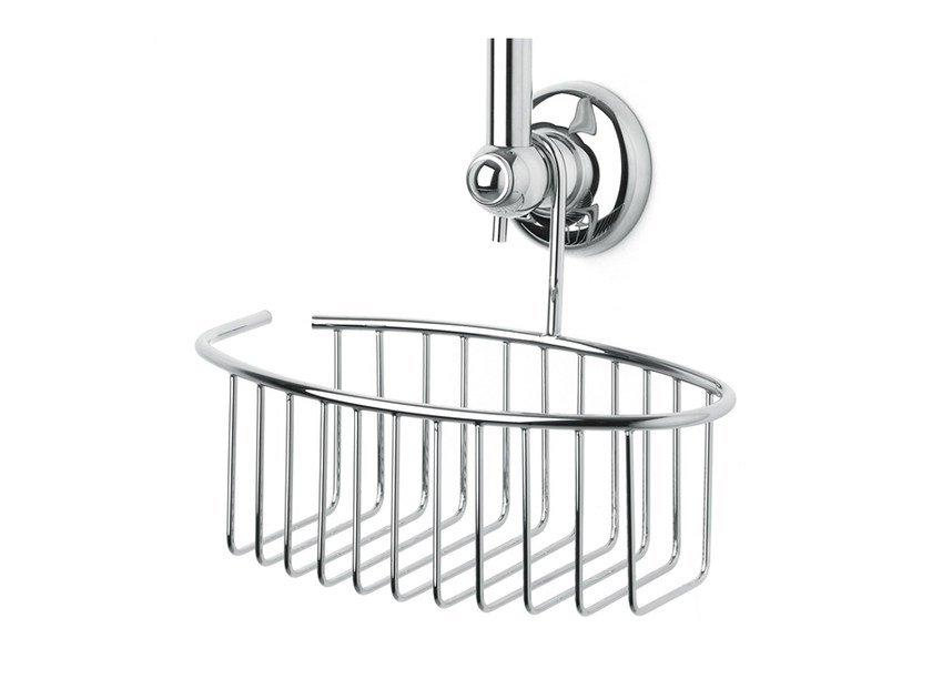 Brass soap dish for shower 100385 | Basket for slide bar brass by THPG