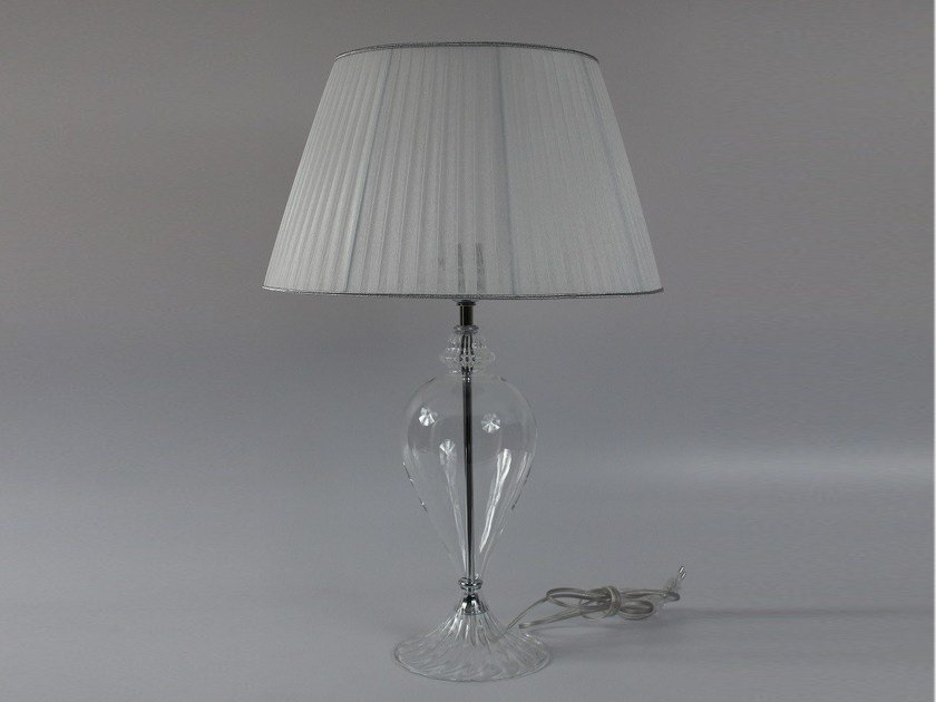 Handmade blown glass bedside lamp 1004 | Blown glass table lamp by Ipsilon PARALUMI