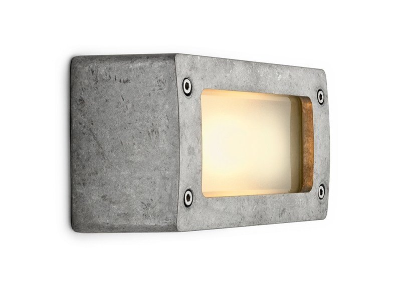 Aluminium wall lamp 100632 | Block light aluminum natural by THPG