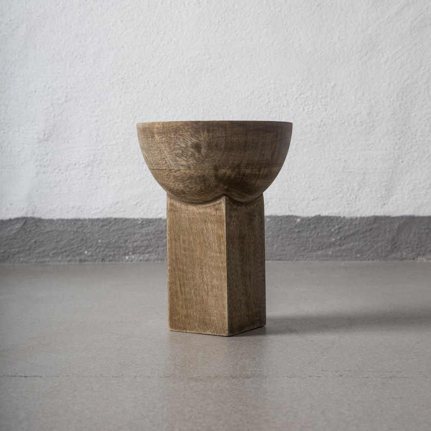 Wooden vase 101 COPENHAGEN - MANGO BLOCK Small by Archiproducts.com