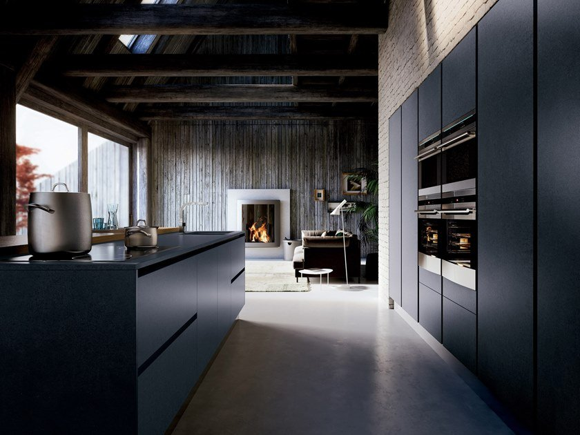 Fitted kitchen with island EVOLUTION | Kitchen with island by GD Arredamenti