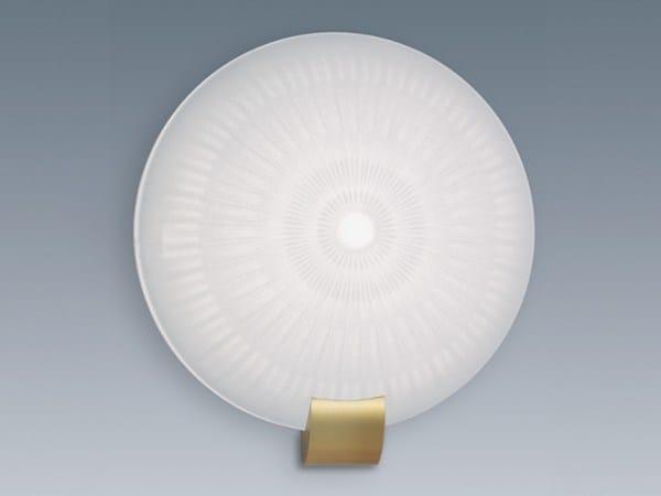 Applique a luce diretta in vetro 1051 | Applique by Jean Perzel