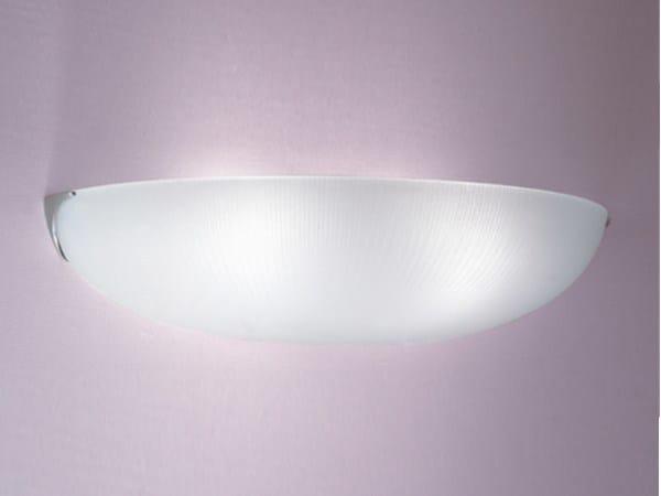 Direct light glass wall light 1055 | Wall light by Jean Perzel
