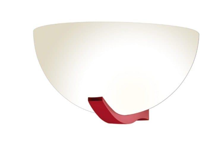 Direct light glass wall light 1065 ROU | Wall light by Jean Perzel