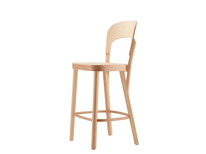 High wooden stool 107 HT by THONET