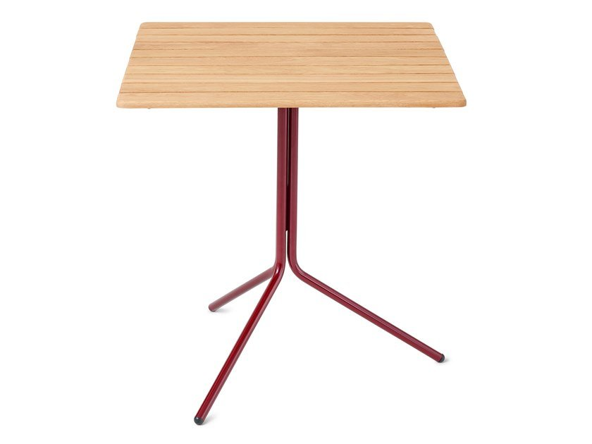 Folding square oak table 11 | Table by Nola Industrier