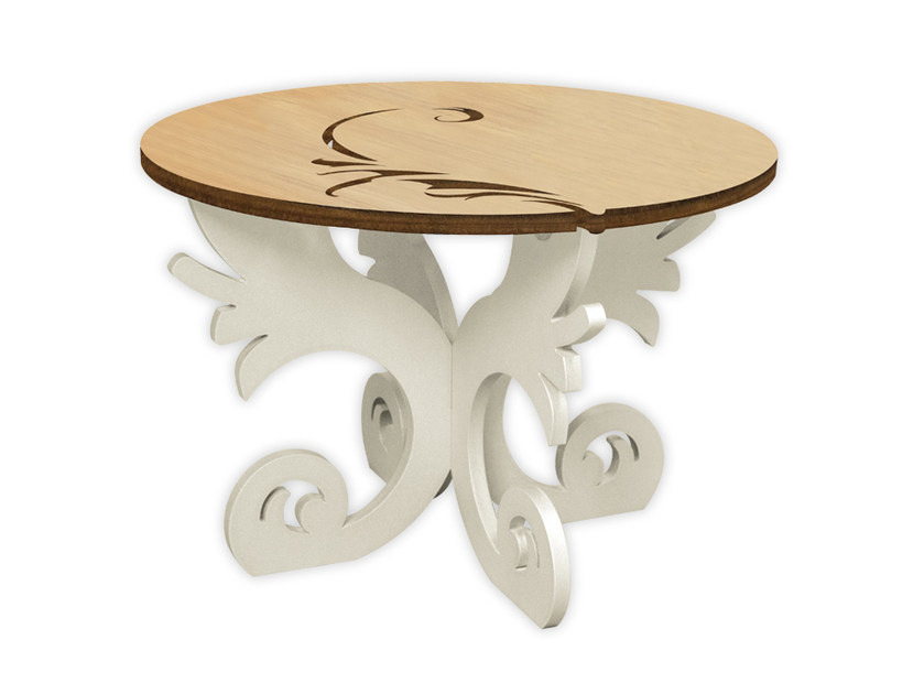 Low round MDF coffee table MW-288 | Coffee table by LAS