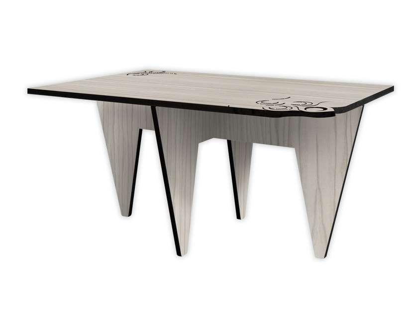 Low rectangular MDF coffee table G-423 | Coffee table by LAS