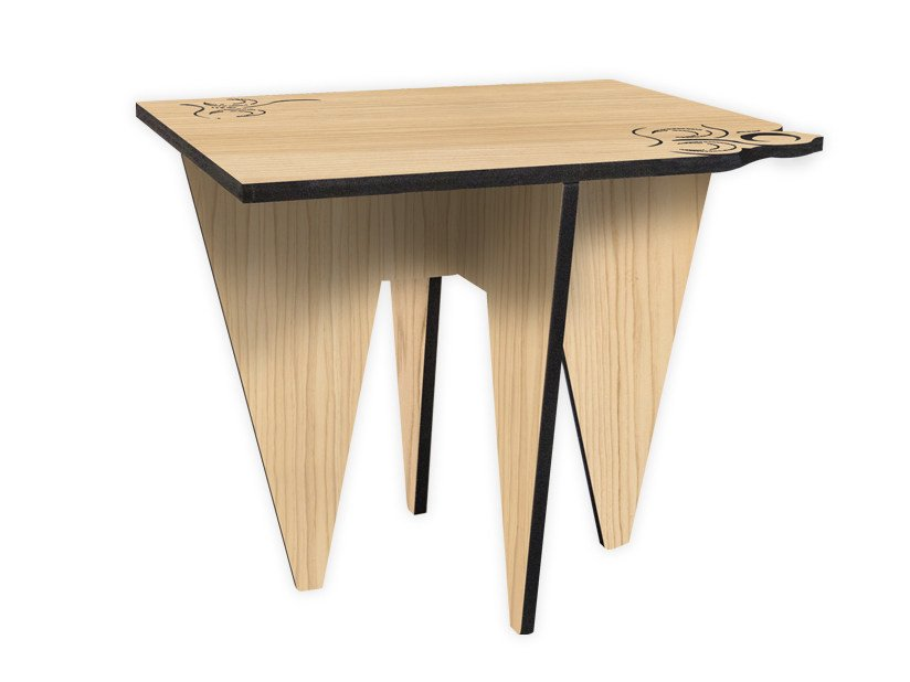Low square MDF coffee table W-422 | Coffee table by LAS