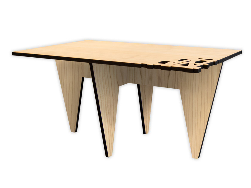Low rectangular MDF coffee table W-392 | Coffee table by LAS
