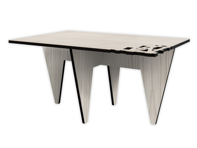 Low rectangular MDF coffee table G-392 | Coffee table by LAS