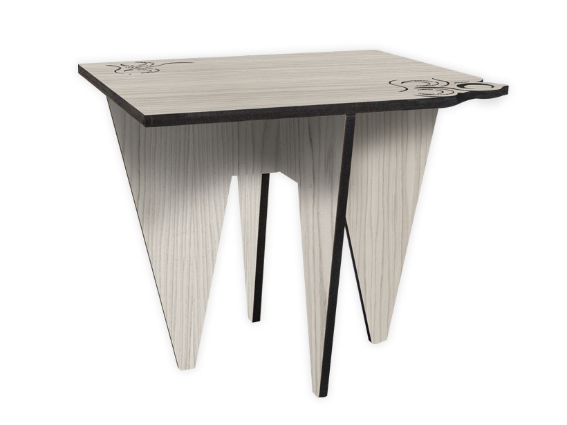 Low square MDF coffee table G-422 | Coffee table by LAS