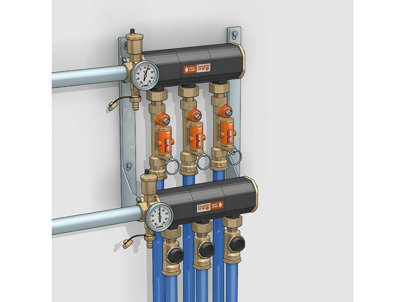 Heat pump and geothermal terminal 110 Distribution manifold by CALEFFI