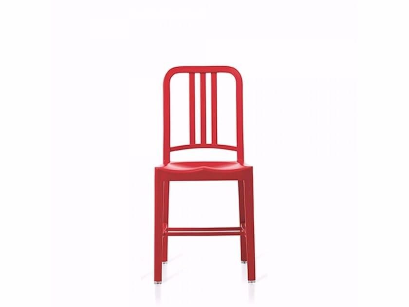 Sedie In Plastica Riciclata.Sedia In Plastica Riciclata 111 Navy Emeco