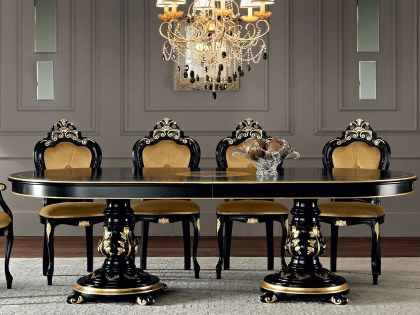 Oval solid wood table 11115 | Table by Modenese Gastone