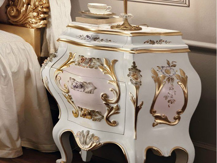 Lacquered bedside table with drawers 11204 | Bedside table by Modenese Gastone