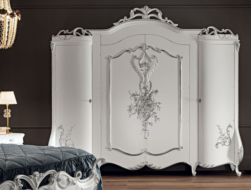 Lacquered solid wood wardrobe 11209 | Wardrobe by Modenese Gastone