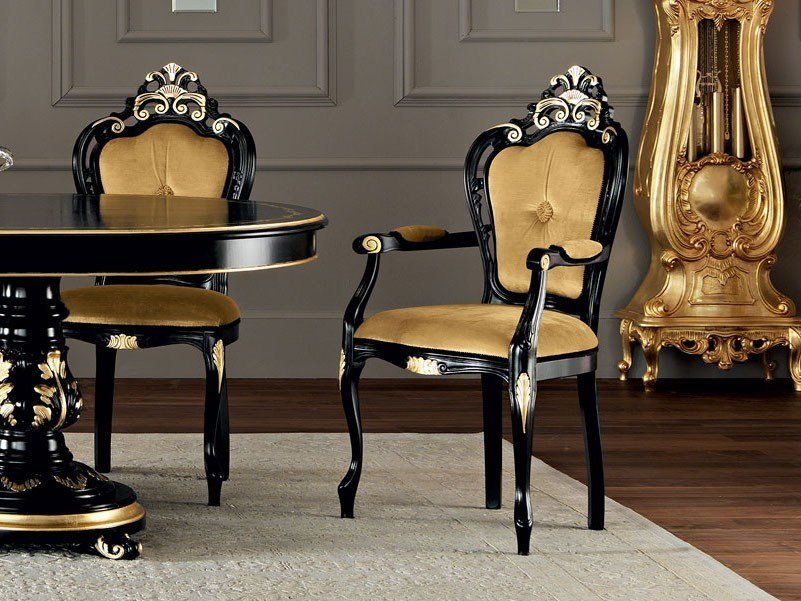 Upholstered chair with armrests 11513 | Chair with armrests by Modenese Gastone