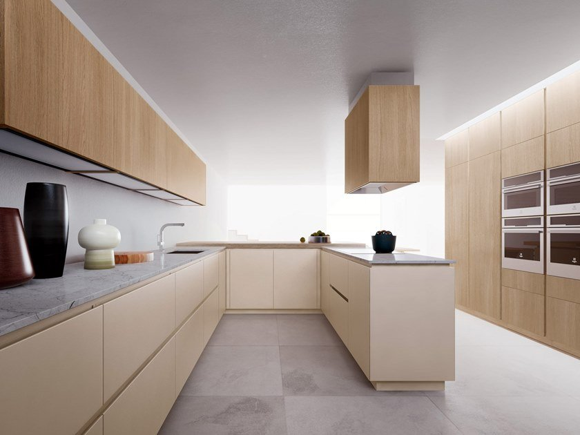 Fitted kitchen with peninsula VELVET ELITE | Kitchen with peninsula by GD Arredamenti