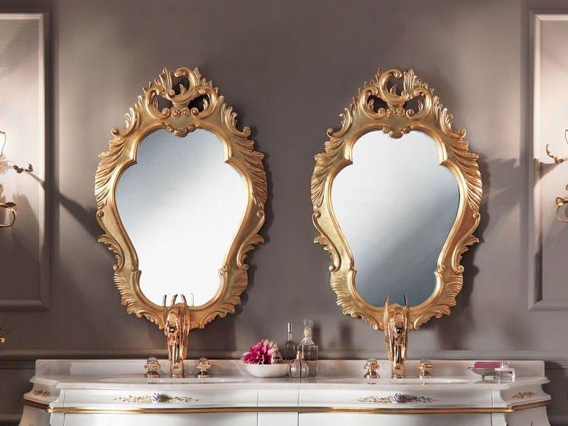 Wall-mounted framed mirror 11635 | Mirror by Modenese Gastone