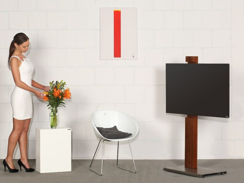 Wooden TV cabinet with casters 118-H | TV cabinet by Wissmann raumobjekte
