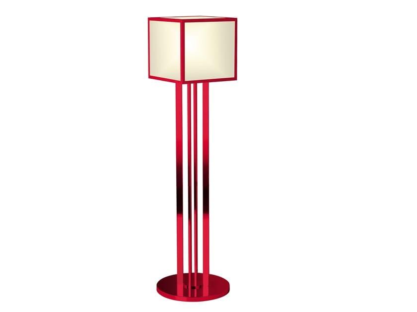 Handmade metal floor lamp 119 ROU | Floor lamp by Jean Perzel