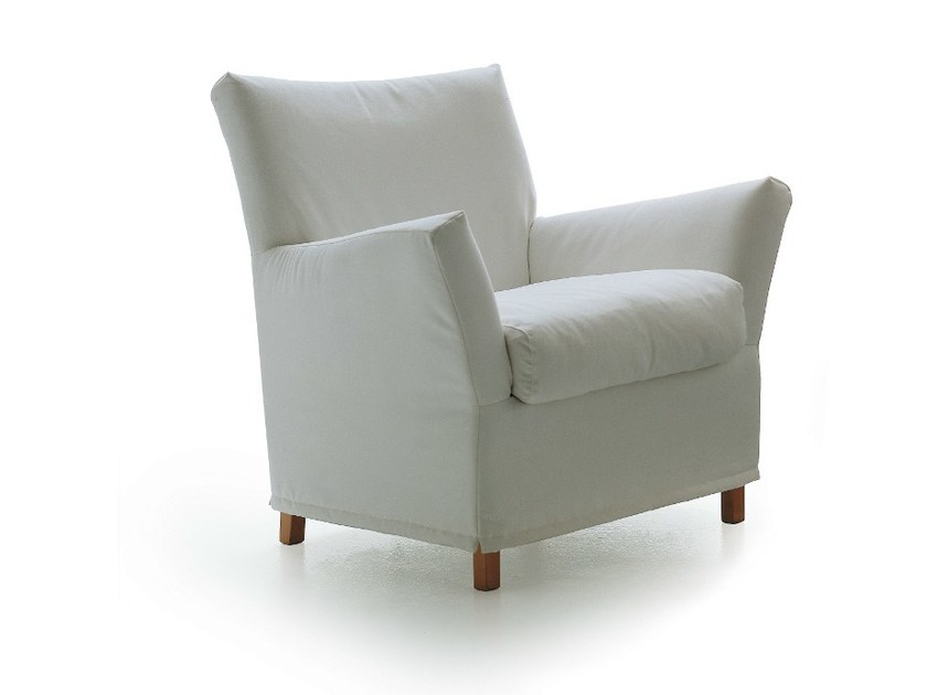 Upholstered armchair with armrests 1200 CLOTILDE by Vibieffe