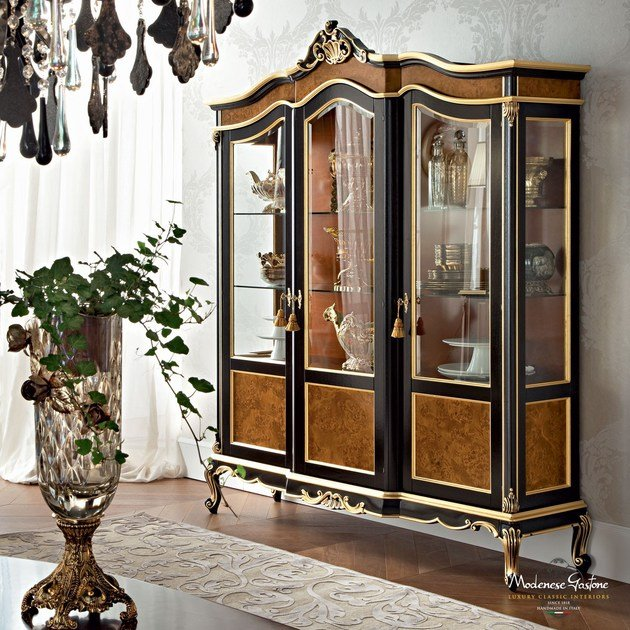 Solid wood display cabinet 12115   Display cabinet by Modenese Gastone