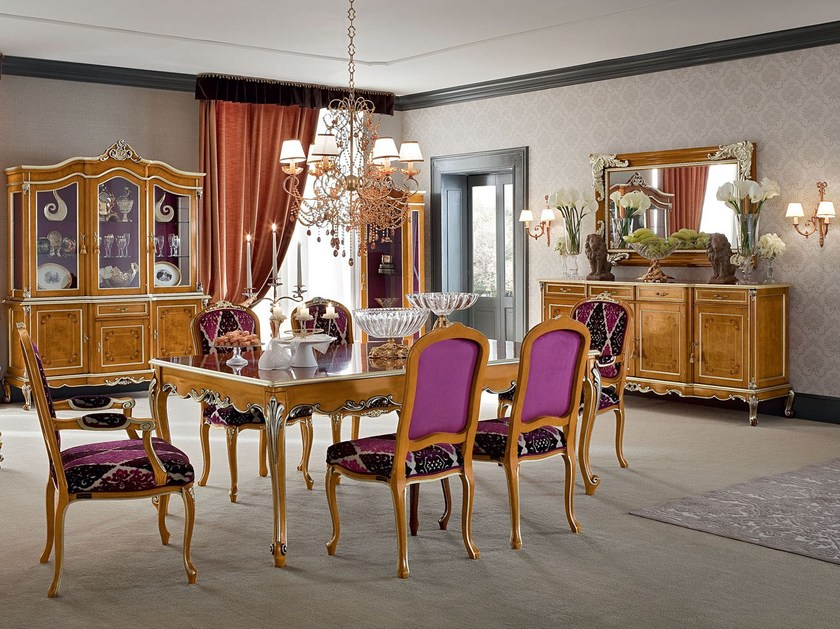 Vogue classic luxury dining room with geometric embroidery - Casanova ...