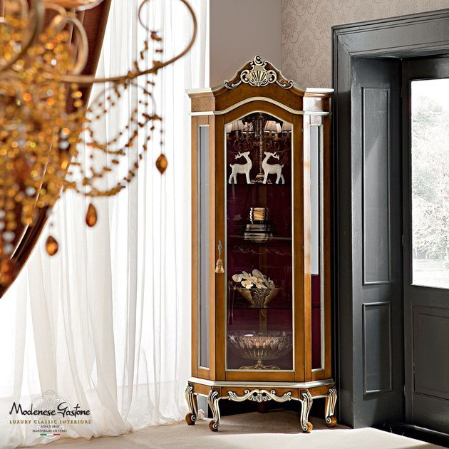 Baroque wooden display cabinet 12125 | Display cabinet by Modenese Gastone
