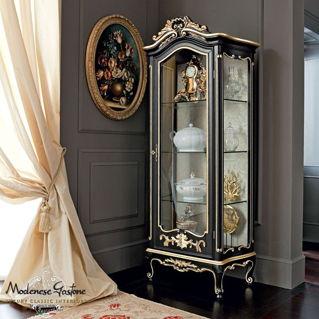 Baroque wooden display cabinet 12131 | Display cabinet by Modenese Gastone