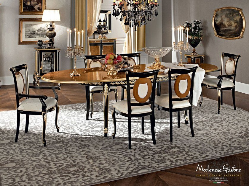Oval solid wood table 12140 | Table by Modenese Gastone