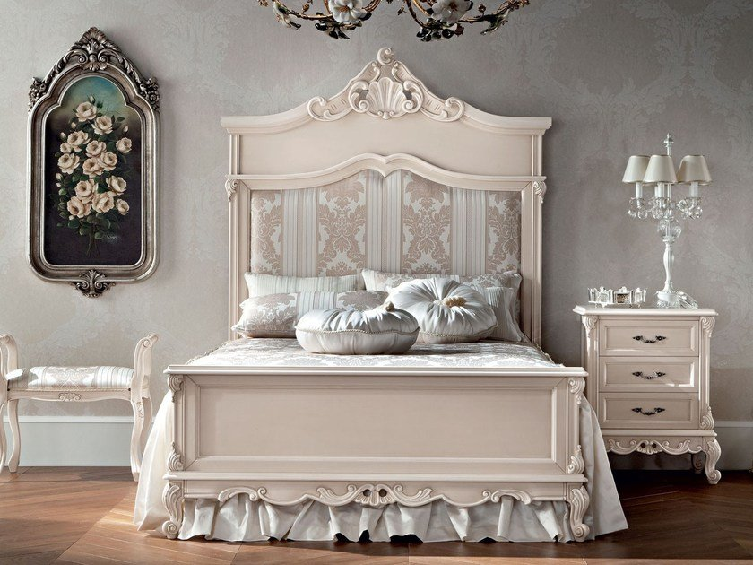 Full size bed with upholstered headboard 12204   Bed by Modenese Gastone