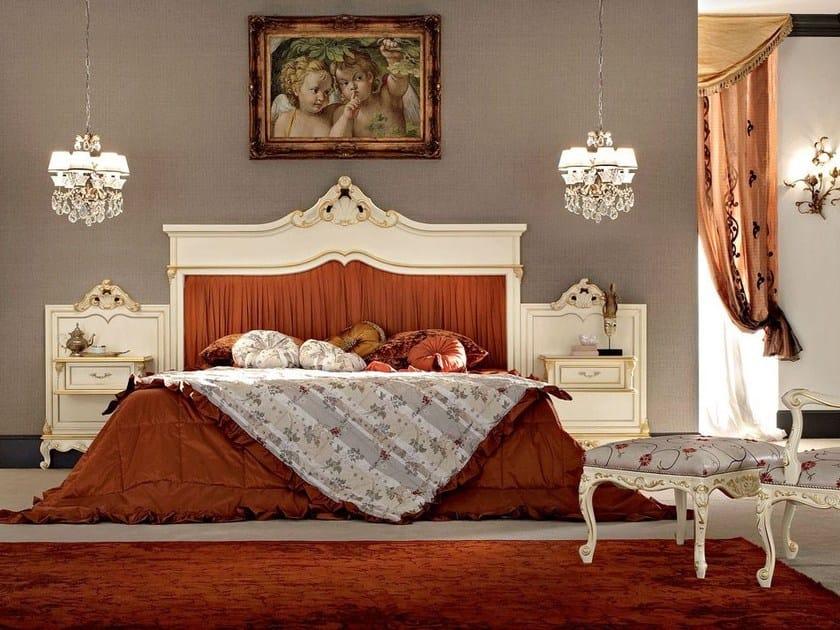 Gastone 12205Letto Alta Modenese Con Matrimoniale Testiera Aj3R54L