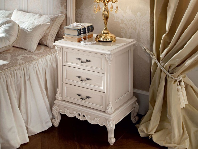 Solid wood bedside table with drawers 12208 | Bedside table by Modenese Gastone