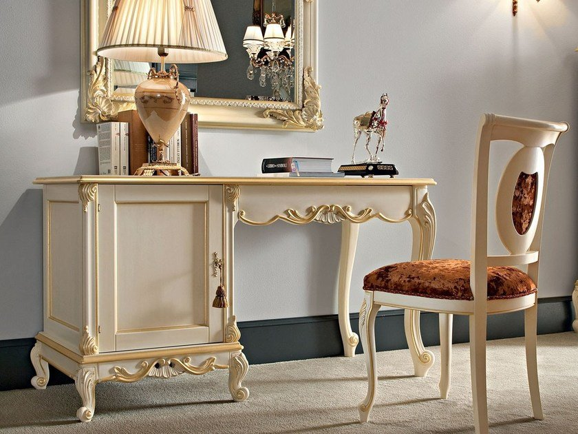Solid wood writing desk 12212   Writing desk by Modenese Gastone