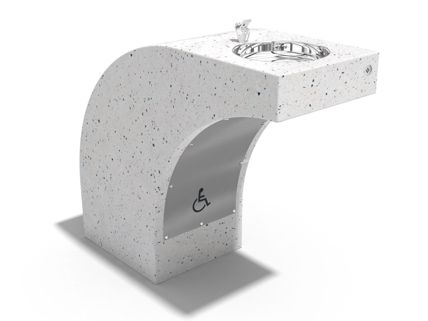 Concrete Floor fountain for Disabled 123   Fountain by ENCHO ENCHEV - ETE